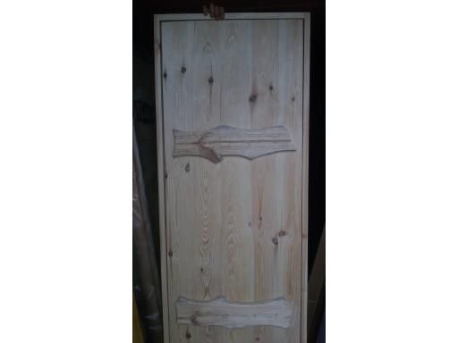Дверь СОСНА 1900х700 массив /браш