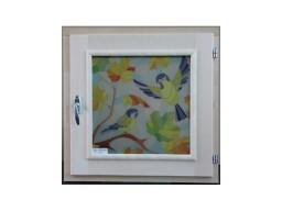 Форточка липа 30х40 стеклопакет с рисунком Осень