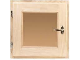Форточка сосна  40х40 стеклопакет бронза матовое