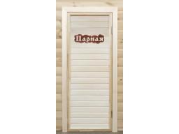 """Дверь банная липа  с резной вставкой """"Парная"""""""