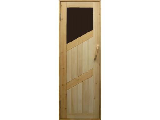 Дверь кедровая комбинированная остекленная  СДО-3