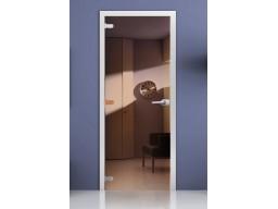 Дверь для сауны «Зеркальная» (бронза)