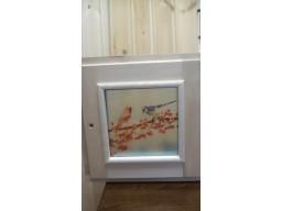 Форточка липа 40х40 стеклопакет с рисунком Зима