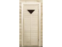 Дверь банная остекленная липа  ПО-1