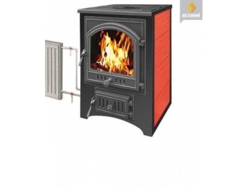 Печь-камин Везувий ПК-01 красный с плитой 9 кВт дверка 270 т/о