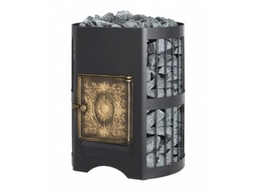 Печь банная Везувий Скиф 28 чугунная дверка ДТ-4 б/в