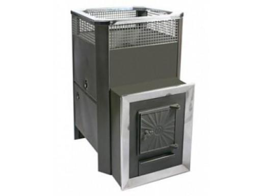 Печь банная Радуга 31 Т (встроенный теплообменник) левый