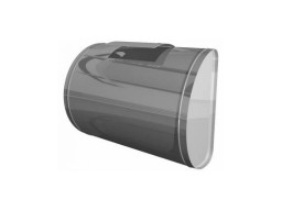 Бак для теплообменника, 60 л, 0.8 мм, горизонтальный, нержавейка