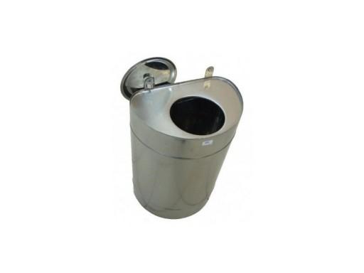 Бак для теплообменника, 60 л, 0.8 мм, вертикальный, нержавейка