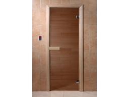 Дверь для сауны Бронза (6 мм, магнит)