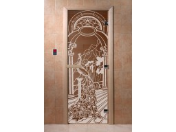 Дверь для сауны «Жар-птица» (бронза)