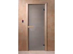 Дверь для сауны Сатин (6 мм, защелка)