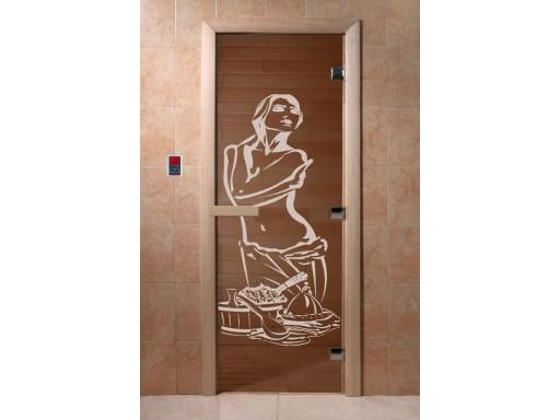 Дверь для сауны «Искушение» бронза (2 петли)