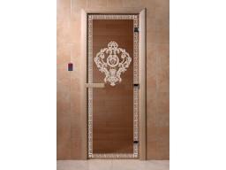 Дверь для сауны «Версаче» (бронза)