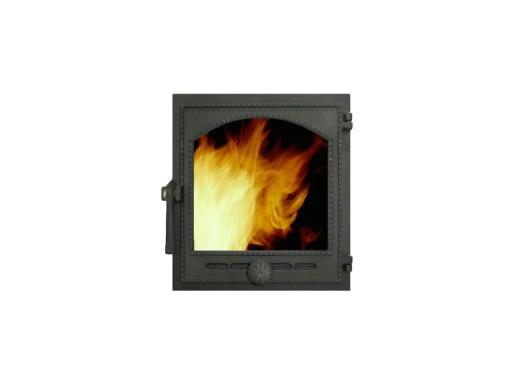 ДВЕРКА ТОПОЧ ГЕРМ ДТГ-8АС `Онего` (Р) 340х370х130 (290х325) со стеклом, термошнуром
