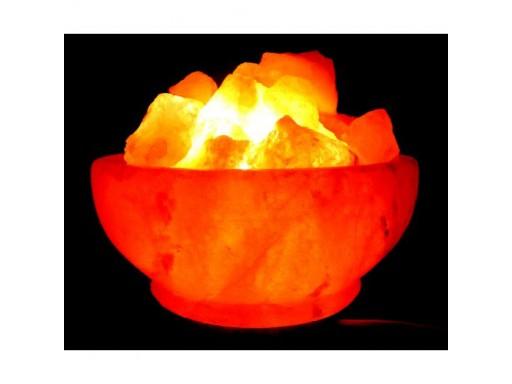 Лампа соляная «Ваза с камнями»