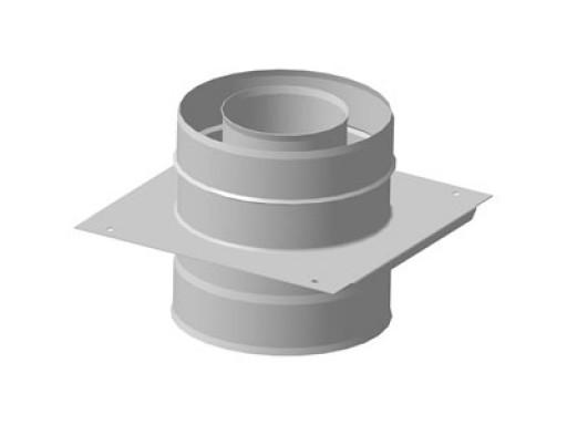 Монтажная площадка ф 100х160, Н+Н, 1,0мм/0,5мм, (К)