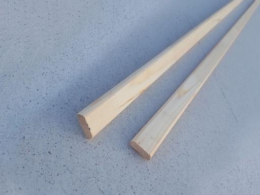 Нащельник Сосна, плоский сращенный, 35 мм, сорт Экстра
