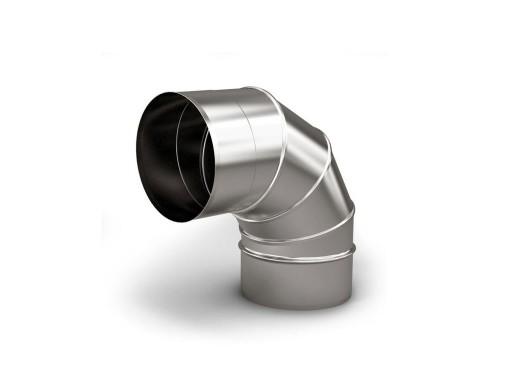 Отвод 90* ф 200, 1,0мм, нержавейка
