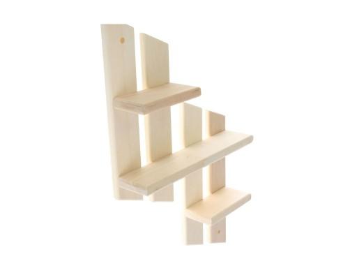 Полка «Ступенька» 11×45×64 см, липа