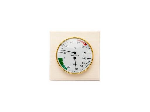 Станция банная термометр-гигрометр «Биметаллическая 2 в 1 СББ» блистер