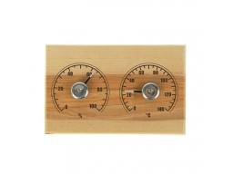Станция банная термометр-гигрометр «Прямоугольник СБО-2ТГ» дерево, к/к