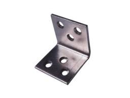 Угол металлический 30х30х30мм (2мм) чёрный (мебельный)