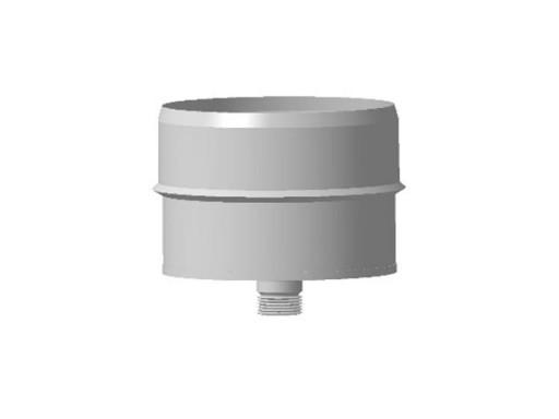 Заглушка с конденсатотводом, ф 160, нержавейка Внутренняя