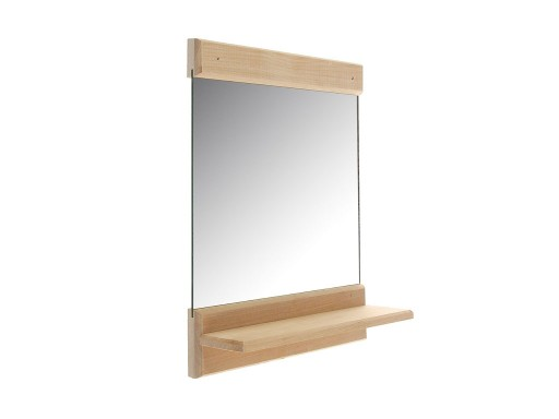 Зеркало 34 х 25 см с полочкой Липа