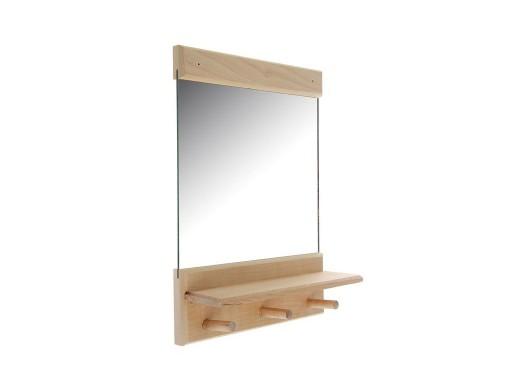 Зеркало 36 х 25 см с полочкой с вешалками Липа