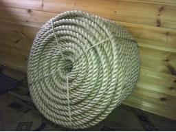 верёвка льняная (джутовая) для срубов 28мм